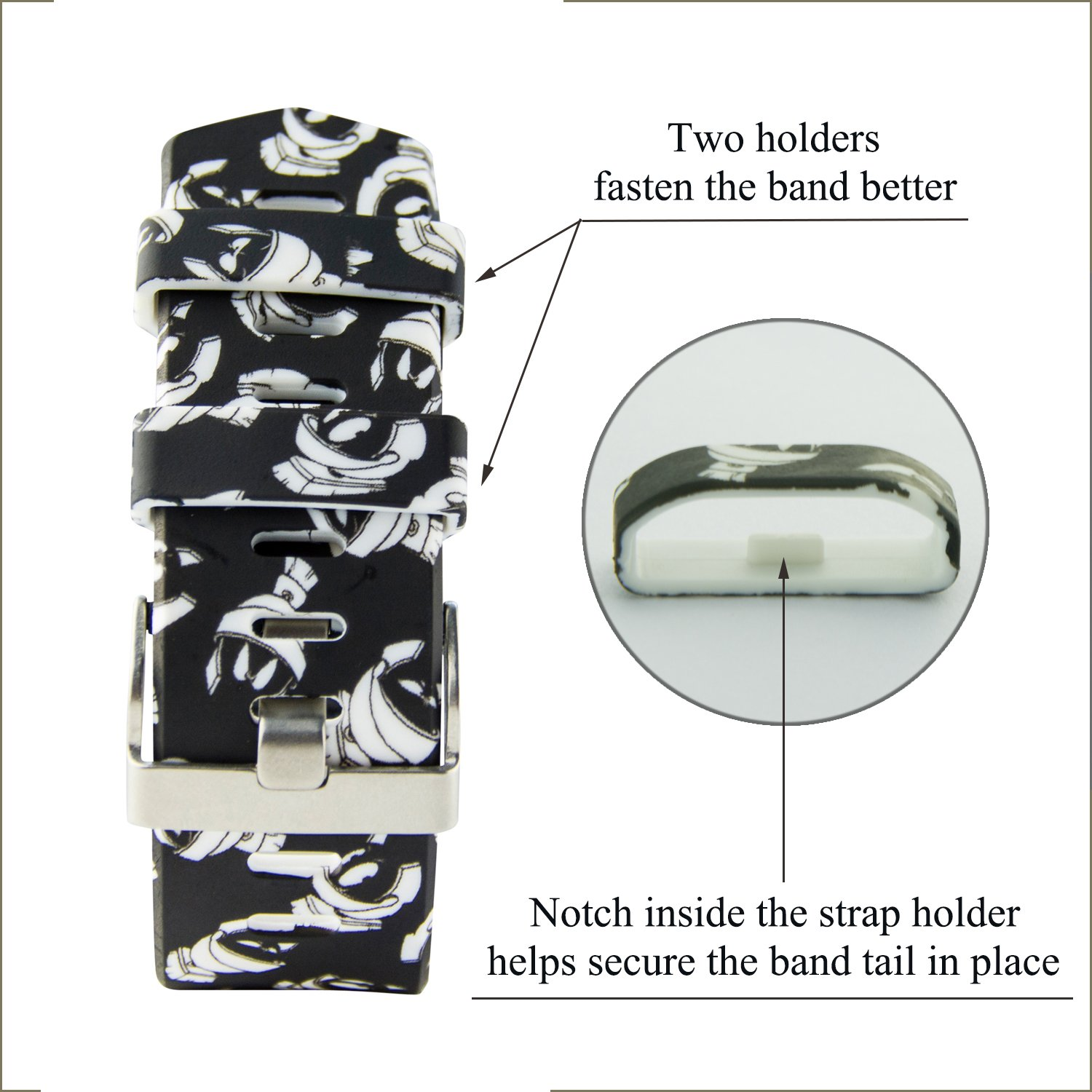 Fitbit Charge 2 Band,Soft Silicone Adjustable Replacement Sport Strap Floral Design Bands with Classic Buckle Fitness Accessory Wristband for Fitbit Charge2 (Pattern-7, Small (Wrist 5.5\