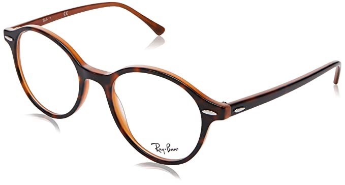 927bc93793 Image Unavailable. Image not available for. Color  Ray-Ban Dean RX7118 -  5713 Round Eyeglasses Havana   Light Brown 50mm