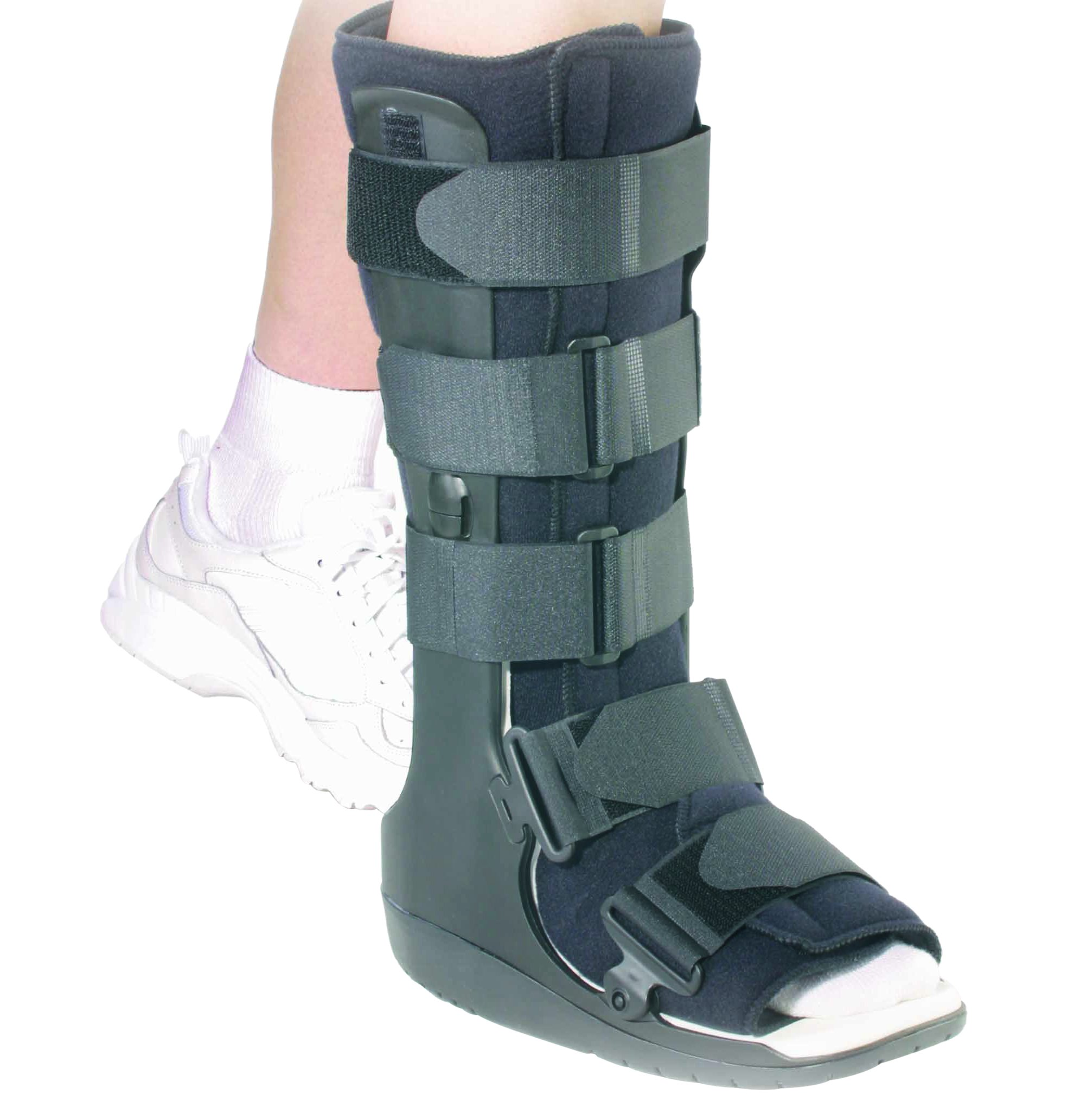 OTC High Top Leg Cast Walker Boot, Black, Medium/Delux Tall by OTC
