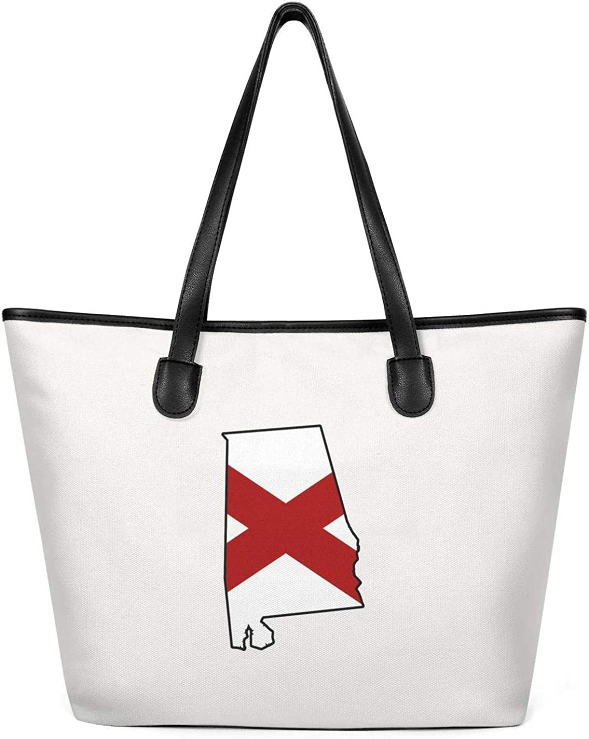 Alabama Flag Woman Canvas Tote Handbags Bags Personalized for Groceries Totes
