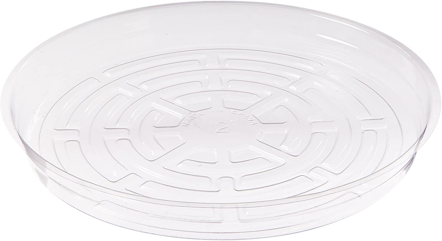Hydrofarm HGS12 Clear 12-Inch, Pack of 10 Saucers, 12 inches