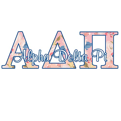 Alpha Delta Pi Blue and White Decal
