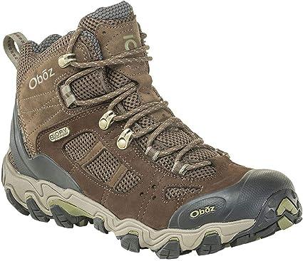 42e5de8c2c5366 Oboz Bridger Vent Mid B-Dry Hiking Boot - Men's Slate Brown/Mayfly Green