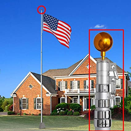 Amazon com : 30ft Flag Pole Aluminum Telescopic Flagpole Kit