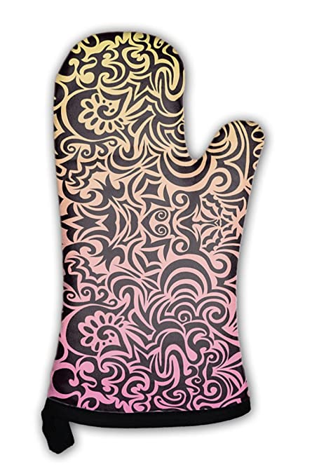Amazon Com Gear New Oven Mitt Tattoo Pattern Gn38077 Home Kitchen