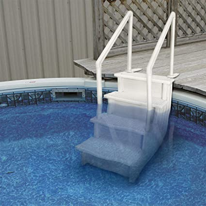 Amazon.com : 9TRADING Above Ground Swimming Pool Ladder Heavy Duty ...
