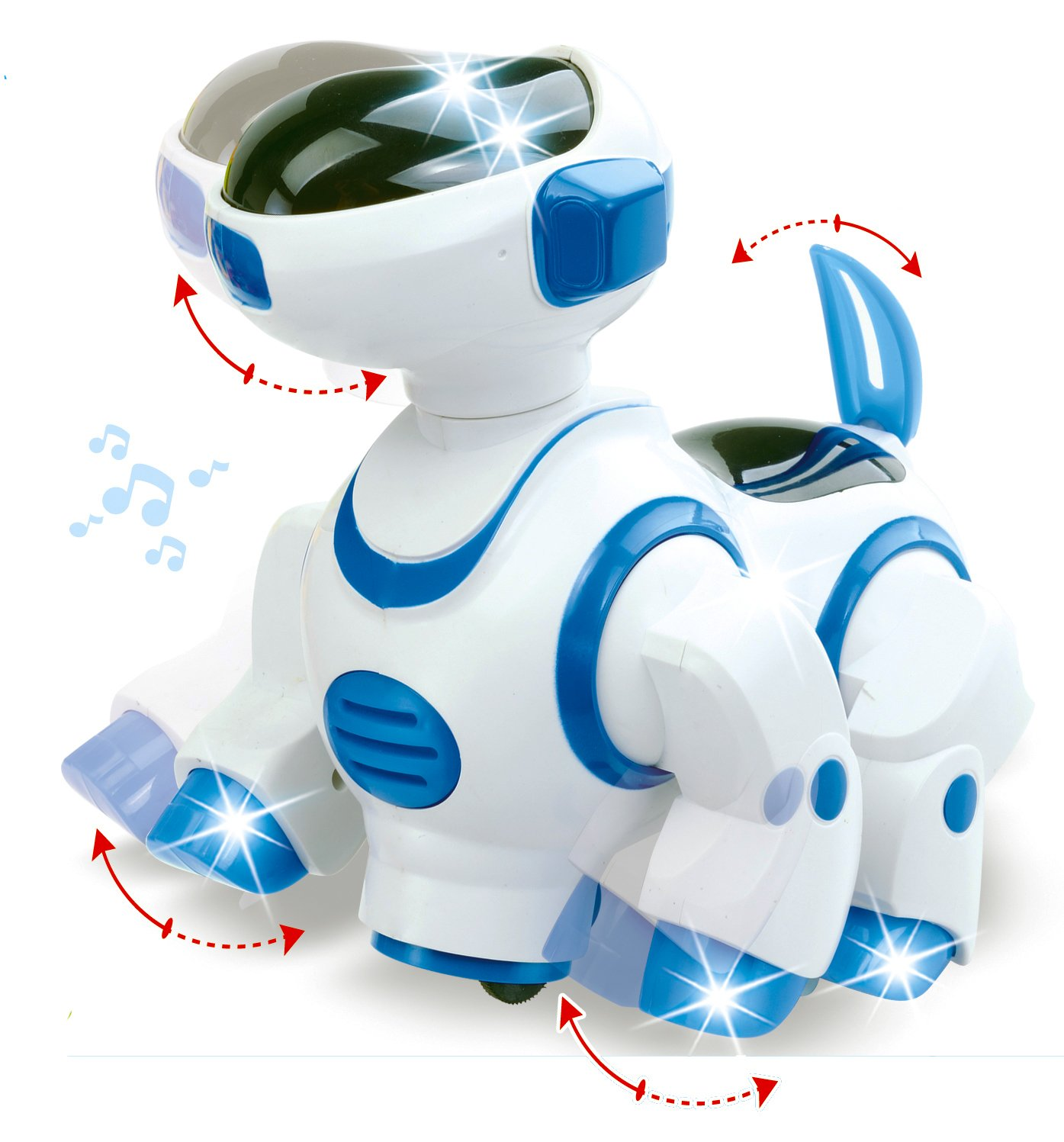 Liberty Imports Smart Robot Dog Toy   Bump and Go Electronic Pet Puppy   Walks, Dances with Lights and Sounds for Kids, Boys, Girls