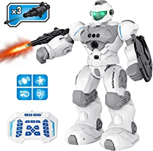 Pickwoo Robot Toys for Kids, Guardian RC Robots Smart Robot Programmable, Interactive Smart Toy with Fight Mode, Walking Dancing Singing for Boys, Girls