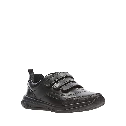 61689117b61 Clarks Kids Boys  Black Leather  Hula Thrill  School Shoes 8F Older   Amazon.co.uk  Shoes   Bags