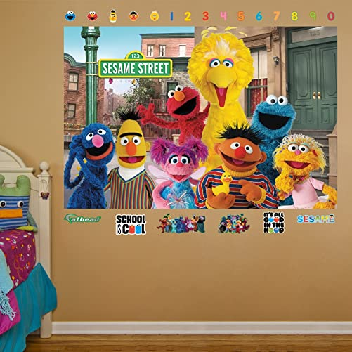 Sesame Street Group Mural