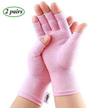 Amazon.com: 2 pares de guantes de compresión para artritis ...