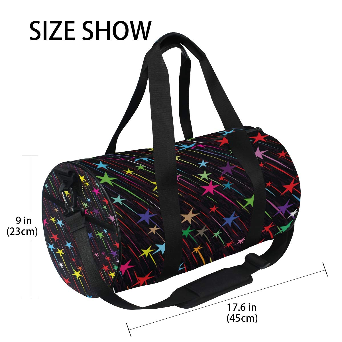 Rainbow GalaxyWaterproof Non-Slip Wearable Crossbody Bag fitness bag Shoulder Bag