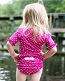 RuffleButts ラッフルバッツ水着 Berry 2T UPF50+ ラッシュガード Berry Polka Dot Ruffled Rash Guard Bikini (2T(90), Berry(ベリー)) [並行輸入品]