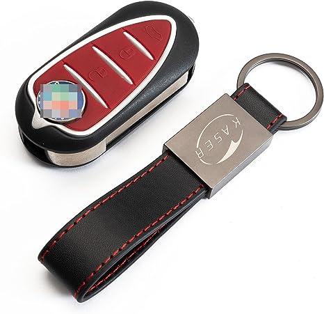 Blue Key FOB case with Keychain for Alfa Romeo 4C Mito Giulietta 159 GTO GTA