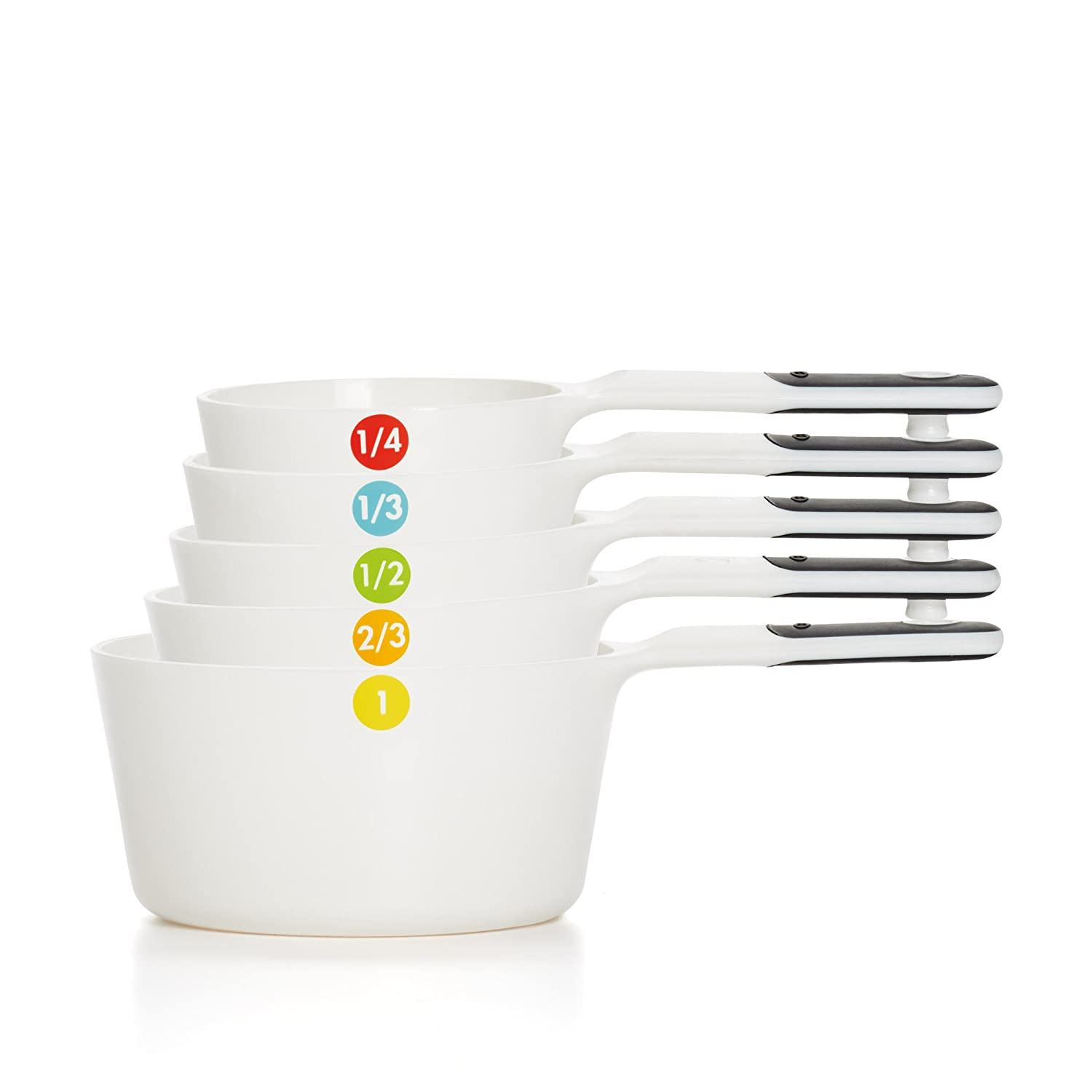 OXO Good Grips Plastic Measuring Cups, 6-Piece, White 11111102
