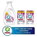 Ariel Ariel Toque De Downy Detergente Líquido 1.2lts + 2 Refills De 600ml Con U, 2.4lts En Total, Pack of 1