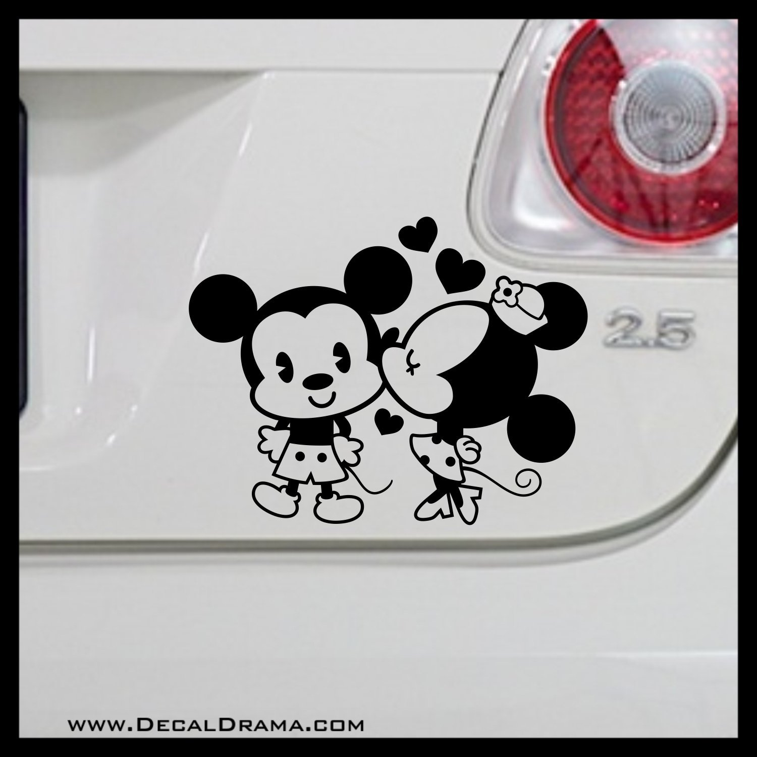 Kissing minnie mouse fan art medium vinyl decal kissing mickey mouse minnie mouse disney pie eyed mickey cars trucks vans laptops windows cups tumblers