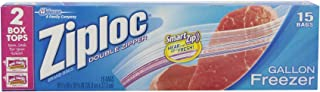 product image for Ziploc Bag Freeezer Gallon, 15-Count Boxes (Pack of 12)