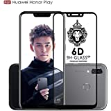 Original Premium Honor Play Tempered Glass – Premium Full Glue Honor Play Tempered Glass, Full Edge-Edge Screen Protection for Huawei Honor Play - Black by Case Factory