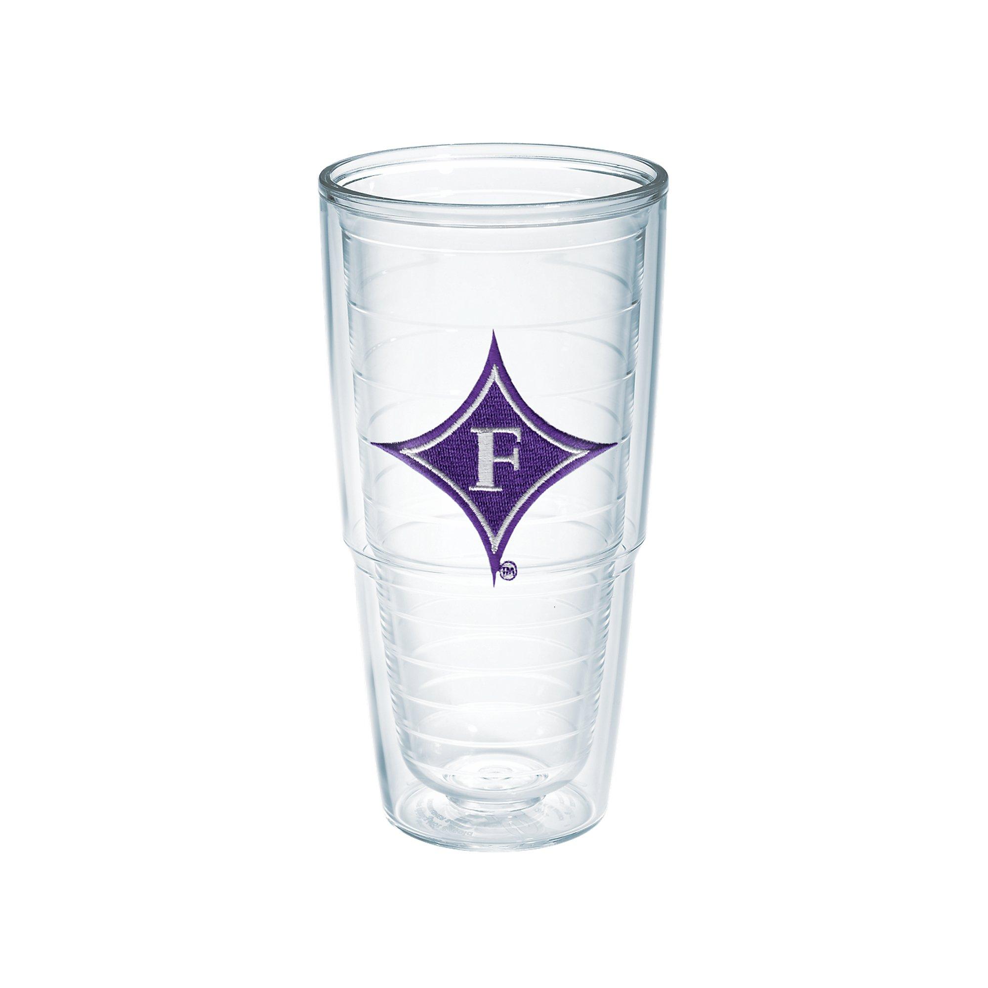 Tervis 1056571 Furman University Emblem Individual Tumbler, 24 oz, Clear