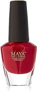 product image for TAMSCO Maya Ruman Nail Polish, Burgundy, 0.4 Ounce