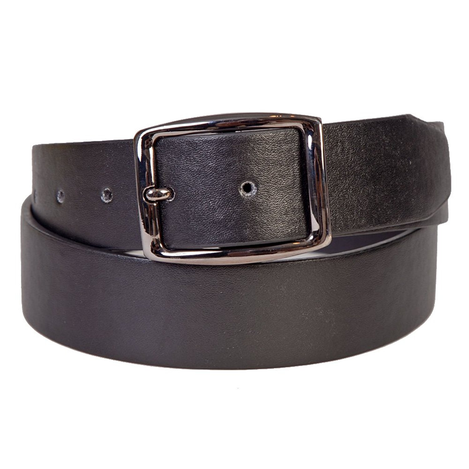 Sunny Belt Boys Classic Faux Leather 1 1/2 Wide Black Belt