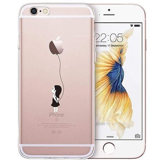 ESR Klare Hülle kompatibel mit iPhone 6 / iPhone 6s Hülle - Dünne weiche TPU Handyhülle mit doppelseitigem Druck - Flexible K