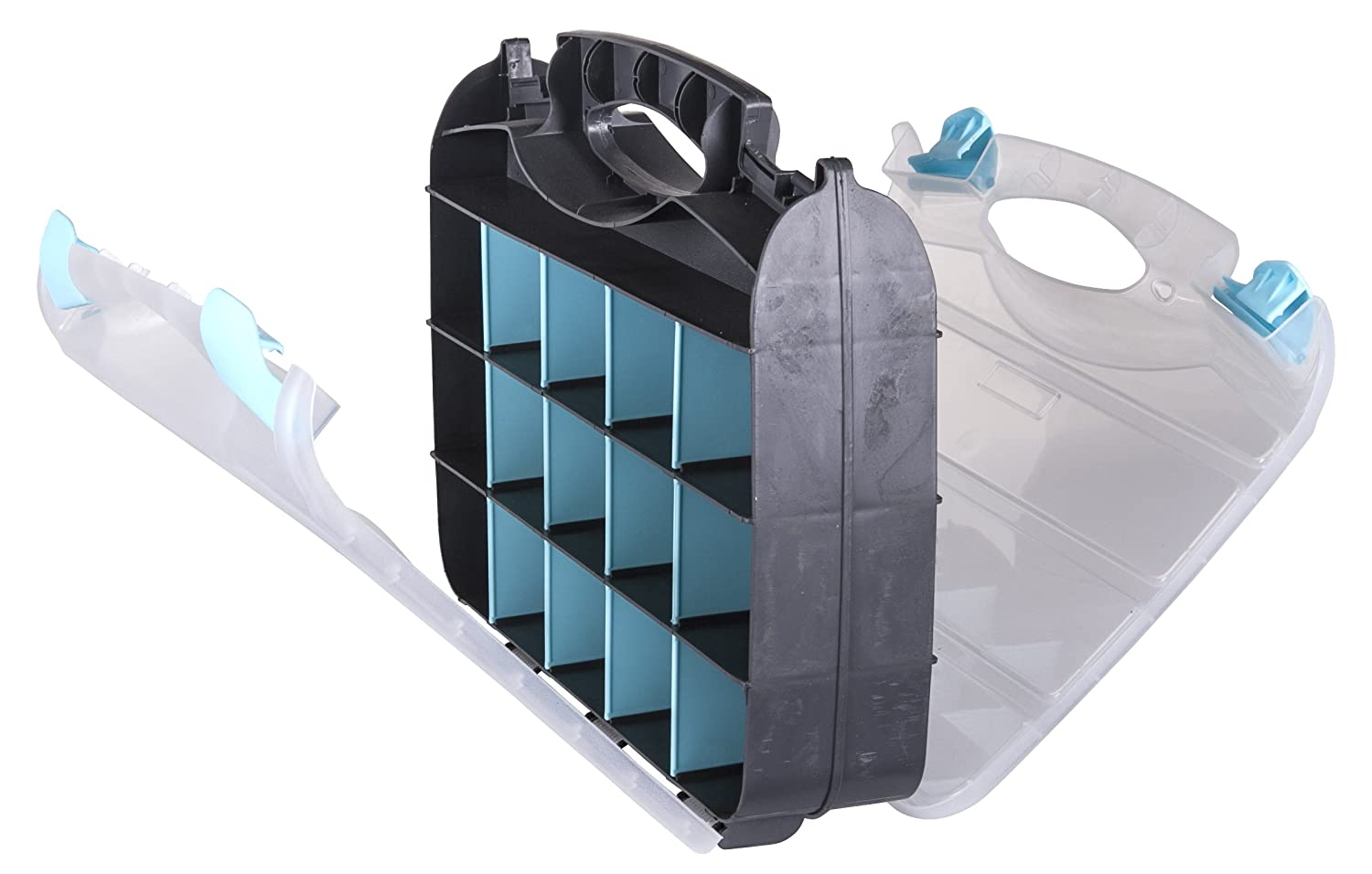6 pack Translucent Clear ArtBin 6977AB 12-Inch Quick View Deep Base Carrying Case
