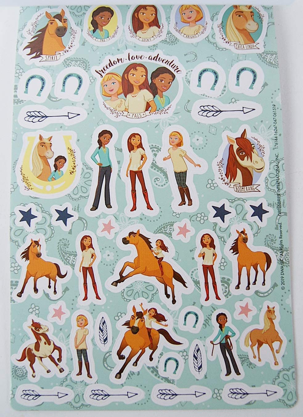 Spirit Riding Free Sticker Collection Pad Includes Over 150 Stickers
