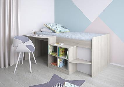 Letti A Soppalco Per Ragazzi Prezzi : Polini kids letto per bambini letto a soppalco con scrivania e