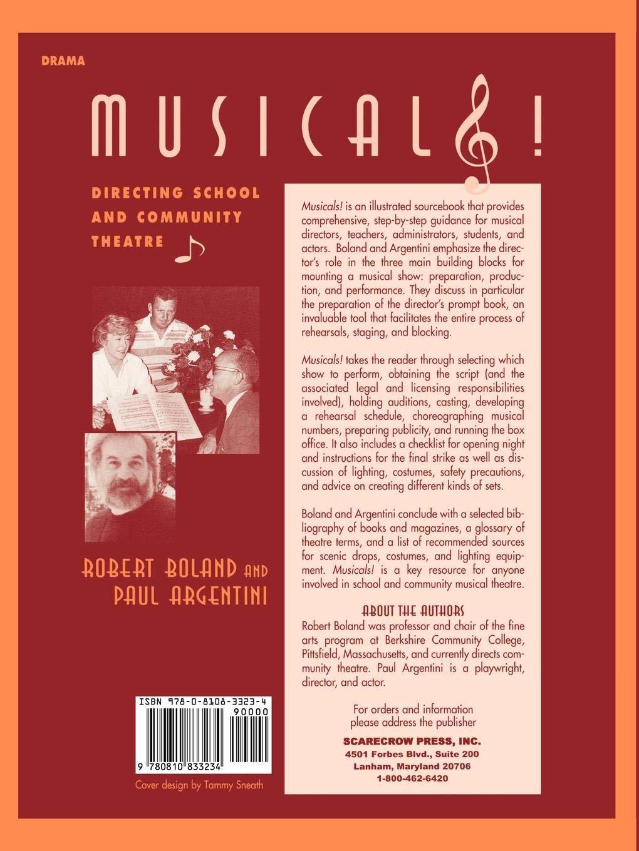 Musicals Directing School And Community Theatre Amazon De Robert