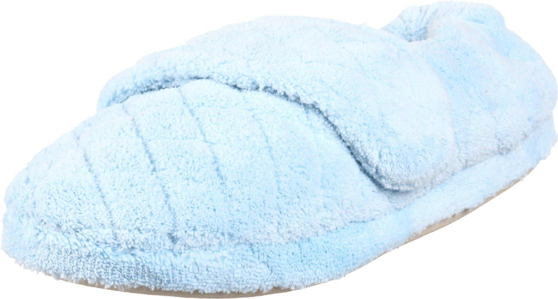 Acorn Women's Spa Wrap Slipper,Powder Blue,Large Wide/8-9 C(D) US
