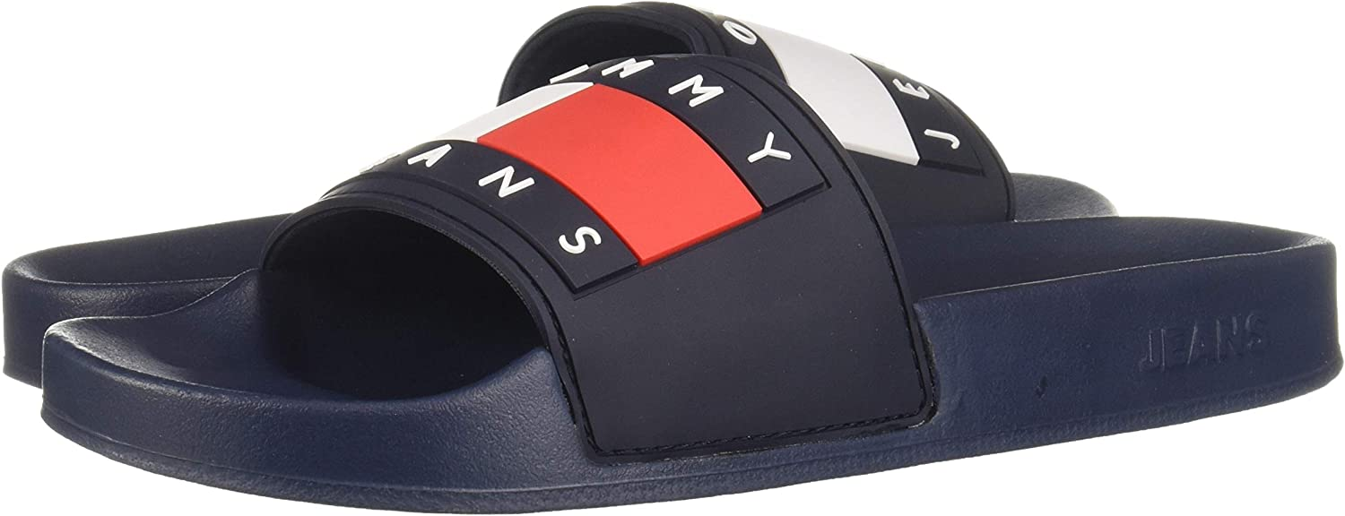 Tommy Hilfiger - Chanclas para mujer Tommy Jeans Flag Pool Slide: Amazon.es: Zapatos y complementos