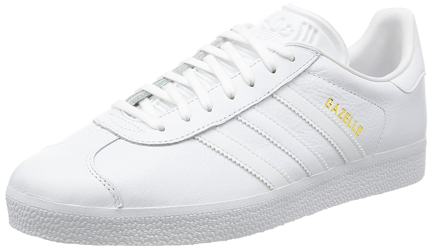 White (White) adidas Unisex Adults' Gazelle Low-Top Sneakers