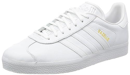 reputable site bb0d3 a645f adidas Gazelle, Scarpe da Ginnastica Basse Unisex – Adulto, Bianco (Ftwr  White
