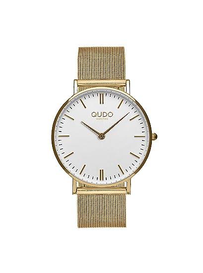 qudo Eterni Mujer Reloj Reloj Oro/oro/blanco 820001/808085: Amazon.es: Relojes