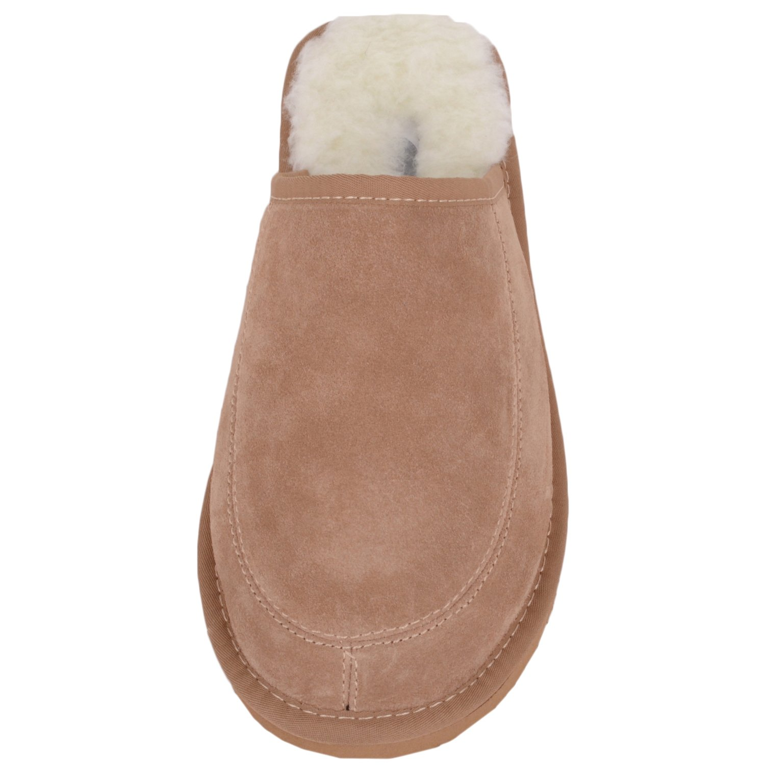 Snugrugs Suede with Wool Lining and Rubber Sole, Unisex Erwachsene Flache Hausschuhe, Braun (Camel), 37 EU