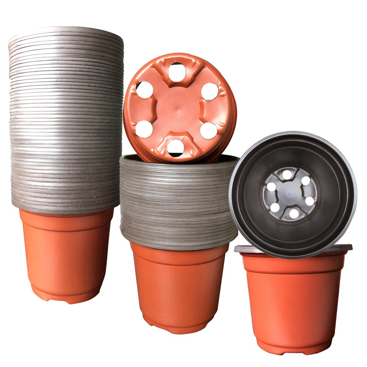 Flower Seedling Nursery Pots 100 Pack Plastic Plant Pot Starter Pot for Seedling Little Garden Pots to Repot Succulents and Small Plants