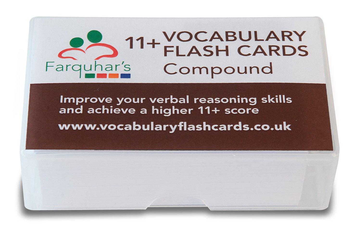 11+ Vocabulary Flash Cards - Compound