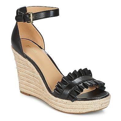 430a6e28a7cb Michael Kors Sandalen Frauen Schuhe mit Keil 40S8BLHS1L Schöne Wedge  Schwarz Größe 38.5 Black
