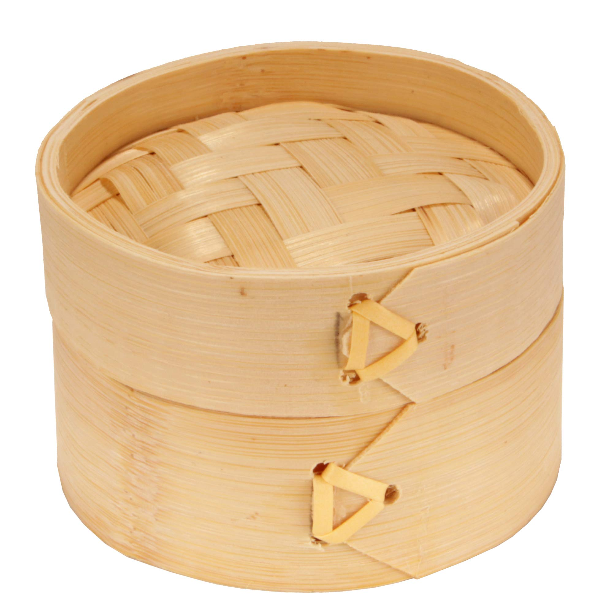 BambooMN 3 Inch Mini Bamboo Dim Sum Dumpling Steamer Basket for Dessert Party Favors Wedding Birthday Home Decorations Supplies, 100 Pieces by BambooMN (Image #3)