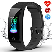 feifuns Fitness Tracker Watch Heart Rate Monitor-Color Screen IP68 Waterproof Activity...