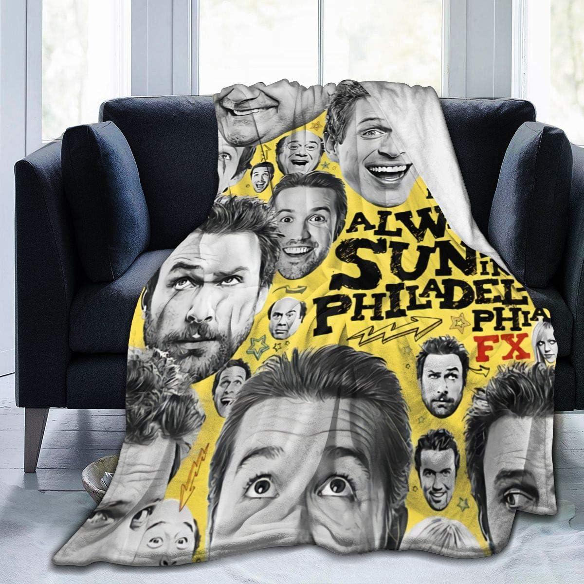 Ddsss It's-Always-Sunny-in-Philadelphia-Season Luxury Flannel Blanket Queen Size Velvet Plush Throw Microfiber Blanket All Season 60x50 Inch