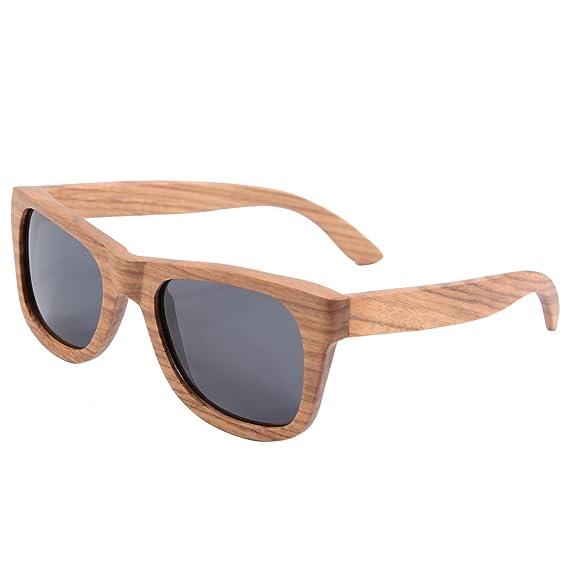 58269ec79a2b SHINU Wayfarer Wooden Sunglasses Genuine Polarized Sunglasses for  Unisex-Z6136 (pear grey)  Amazon.co.uk  Clothing