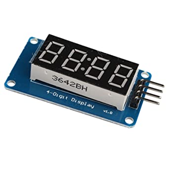 haljia 4-segment reloj TM1637 LED tubo digital de 4 dígitos módulo de visualización con
