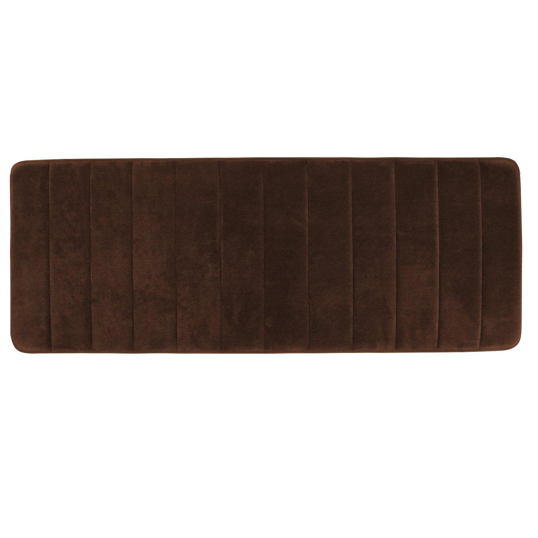 Lifewit Alfombra De Baño,Alfombrilla Material Espuma Memoria Con Caucho Antideslizante,120x 43 cm,Gris LF232416GY