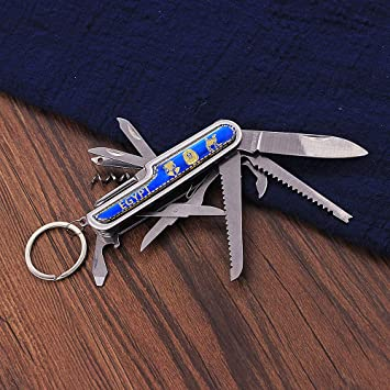 Outdoor Survival Pocket Edelstahl Schlüsselbund Schlüsselring Tool Multi Sc O6R9
