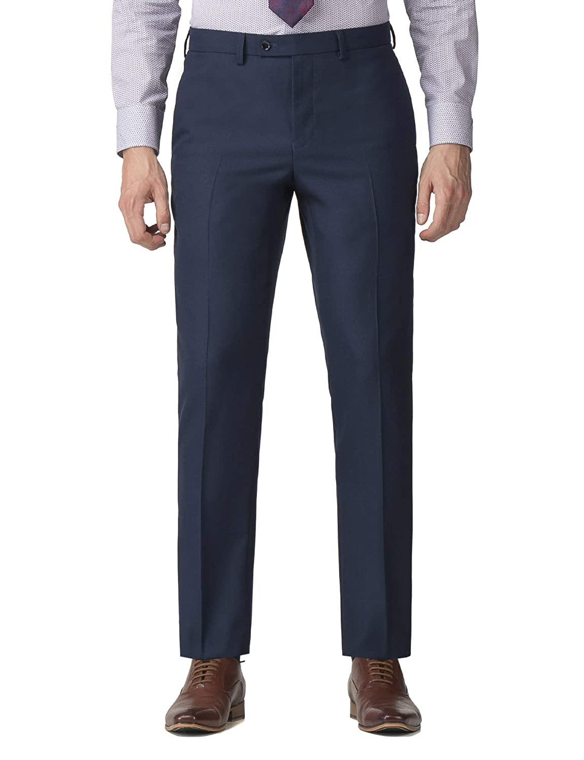Stvdio by Jeff Banks Navy Texture Tailored Fit Suit Trouser