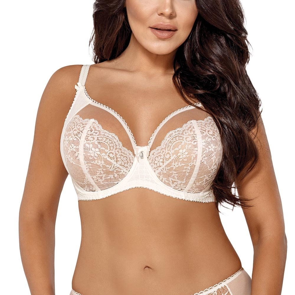 AVA Underwired Lace Non Padded Bra 1666 Bricky at Amazon Womens Clothing store: