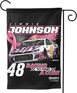 FGHFGHF Jimmie Johnson Garden Flag Vertical Double Sided Spring Summer Yard Outdoor Decorative